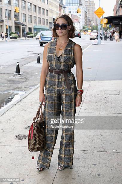 Stylist Gabrielle Swan is wearing romper by Tucker by Gaby Basora shoes by ZARA bag that she bought at a street market in Dominican Republic...