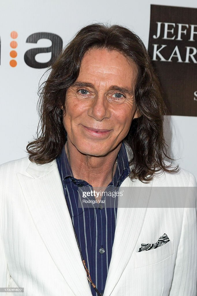Stylist George Blodwell arrives at 'The Fountain Of Youth White Party' to celebrate
