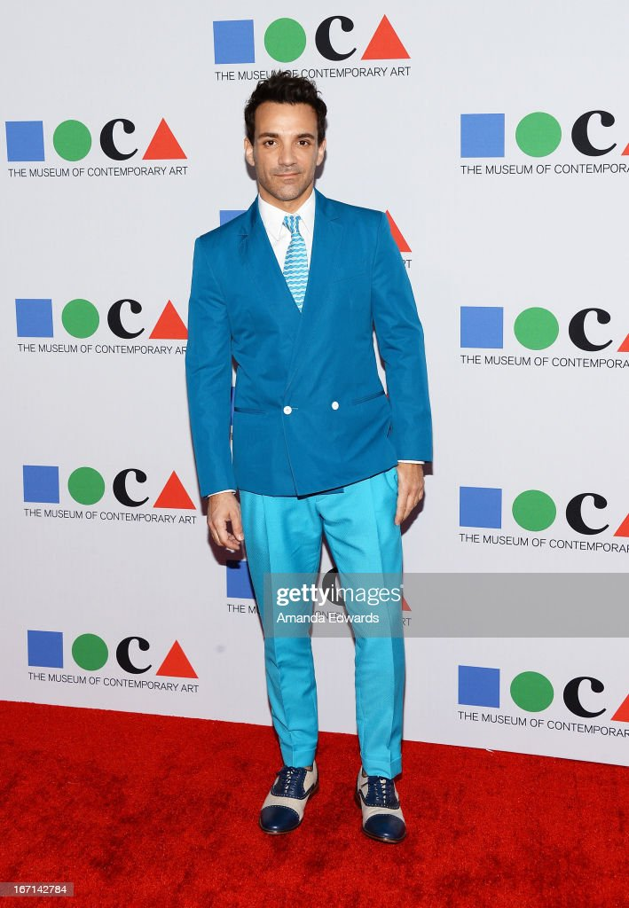 Stylist George Kotsiopoulos arrives at the 'Yesssss!' 2013 MOCA Gala, celebrating the opening of the exhibition Urs Fischer at MOCA Grand Avenue on April 20, 2013 in Los Angeles, California.
