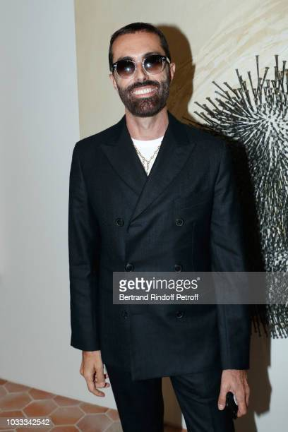 Stylist Giambattista Valli attends the Kering Heritage Days Opening Night at 40 Rue de Sevres on September 14 2018 in Paris France