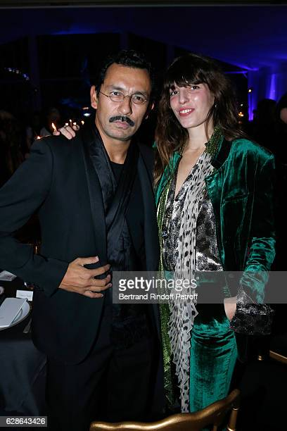 Stylist Haider Ackermann and actress Lou Doillon attend the Annual Charity Dinner hosted by the AEM Association Children of the World for Rwanda at...