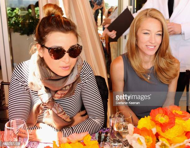 Stylist Jamie Schneider and model Elaine Irwin attend Vogue Lunch In Celebration Of The Etro Spring Collection Hosted By Sally Singer at Sunset Tower...