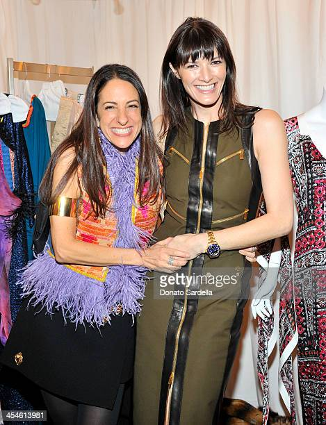 Stylist Jane Ross and Gwen McCaw attends the VMT Veronica Toub launch dinner party at Neiman Marcus on December 9 2013 in Beverly Hills California