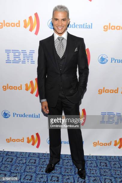 Stylist Jay Manuel attends the 21st Annual GLAAD Media Awards at The New York Marriott Marquis on March 13 2010 in New York New York