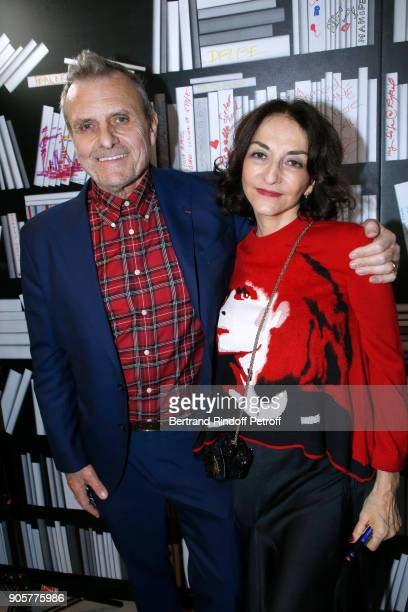 Stylist JeanCharles de Castelbajac and Nathalie Rykiel attend the Manifesto Sonia Rykiel 5Oth Birthday Party at the Flagship Store Boulevard Saint...