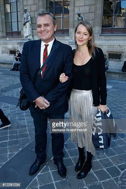 Stylist JeanCharles de Castelbajac and Pauline de Drouas attend the Sonia Rykiel show as part of the Paris Fashion Week Womenswear Spring/Summer 2017...