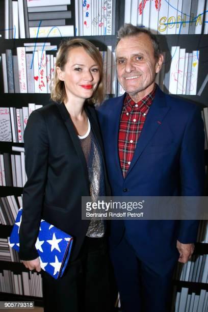 Stylist JeanCharles de Castelbajac and Pauline de Drouas attend the Manifesto Sonia Rykiel 5Oth Birthday Party at the Flagship Store Boulevard Saint...