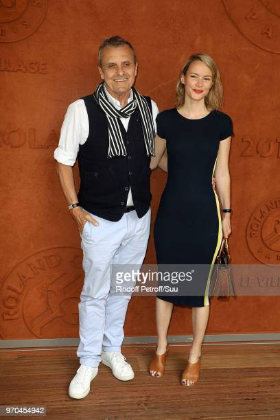Stylist JeanCharles De Castelbajac and Pauline De Drouas attend the 2018 French Open Day Fourteen at Roland Garros on June 9 2018 in Paris France