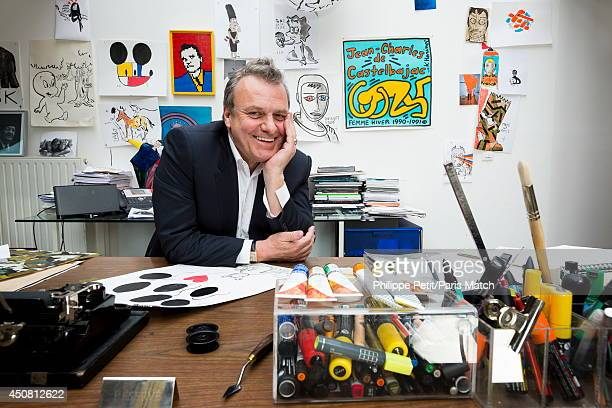 Stylist JeanCharles de Castelbajac is photographed for Paris Match on April 9 2013 in Paris France