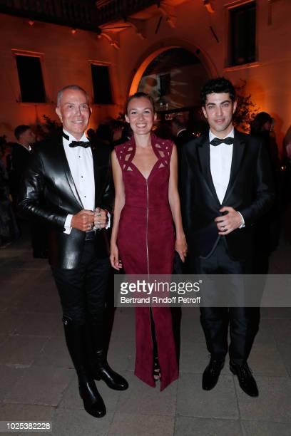 Stylist JeanClaude Jitrois Alice Aufray and director Julien Landais attend the Celebrazione Party By Chopard and Generali To Honor The 75th Venice...