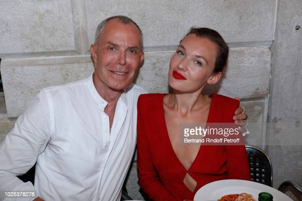 Stylist JeanClaude Jitrois and Alice Aufray attend the Celebrazione Party By Chopard and Generali To Honor The 75th Venice Film Festival at Palazzo...