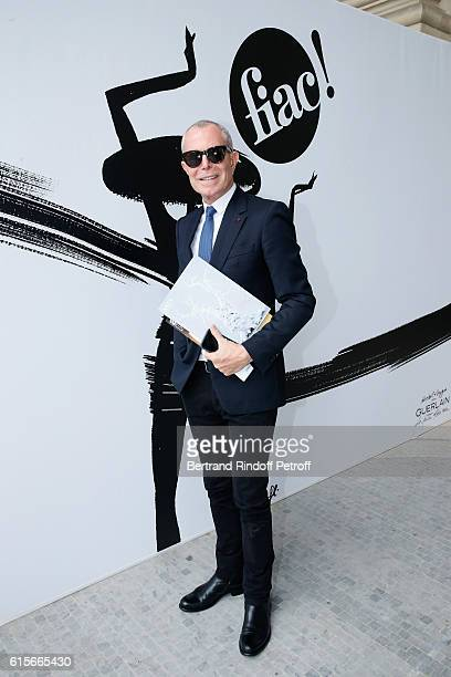 Stylist JeanClaude Jitrois attends the FIAC 2016 International Contemporary Art Fair Press Preview Held at Le Grand Palais on October 19 2016 in...