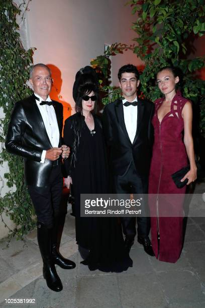 Stylist JeanClaude Jitrois Diane Pernet director Julien Landais and Alice Aufray attend the Celebrazione Party By Chopard and Generali To Honor The...