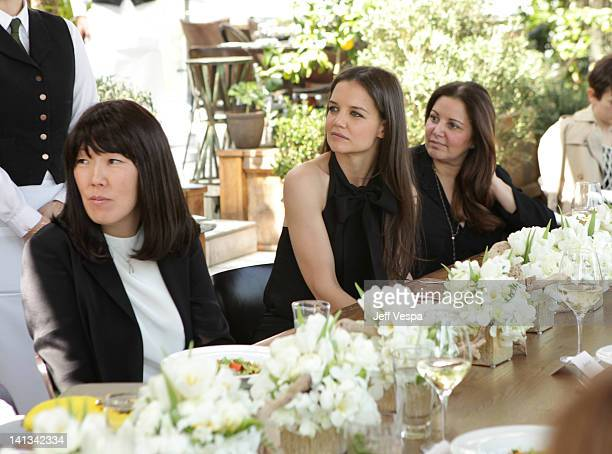 Stylist Jeanne Yang actress Katie Holmes and Stylist Deborah Waknin attend the The Hollywood Reporter Jimmy Choo Inaugural 25 Most Powerful Stylists...