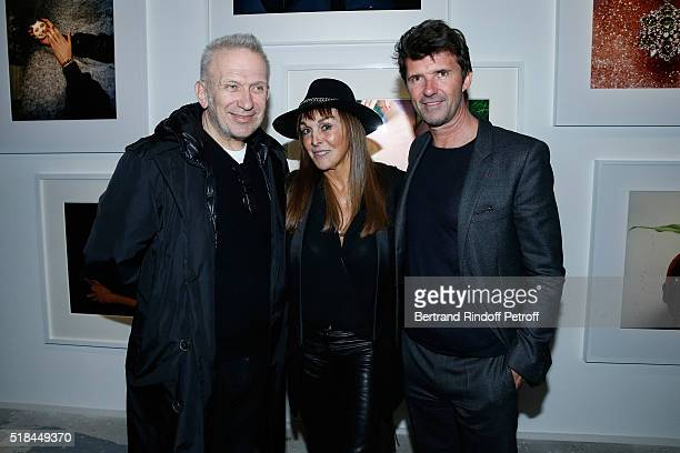 Stylist JeanPaul Gaultier Babeth Djian and CEO of Mazarine Group and Founder of 'Studio des Acacias' PaulEmmanuel Reiffers attend the 'Guy Bourdin...