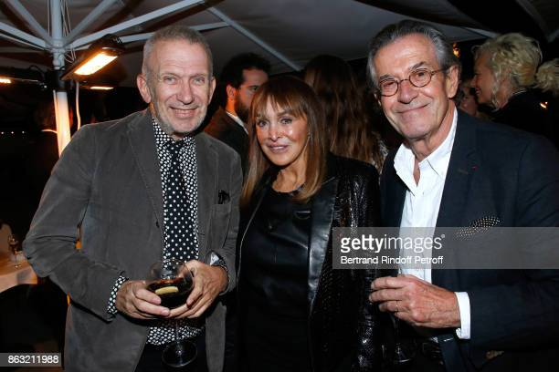 Stylist JeanPaul Gaultier Babeth Djian and Vice President of Louis Roederer Michel Jeanneau attend the Dinner for the Art Exhibition Reflexion Redux...