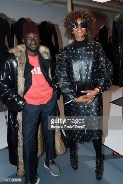 Stylist Jenke Ahmed Tailly and Model Naomi Campbell attend the Tribute To Azzedine Alaia as part of Paris Fashion Week on January 20, 2019 in Paris,...