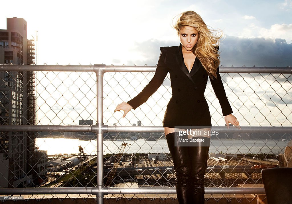 Patricia Morales, Makeup: Francesca Tolot. Blazer by Jean Paul Gaultier, boots by Roberto Cavalli, fishnets by Wolford.