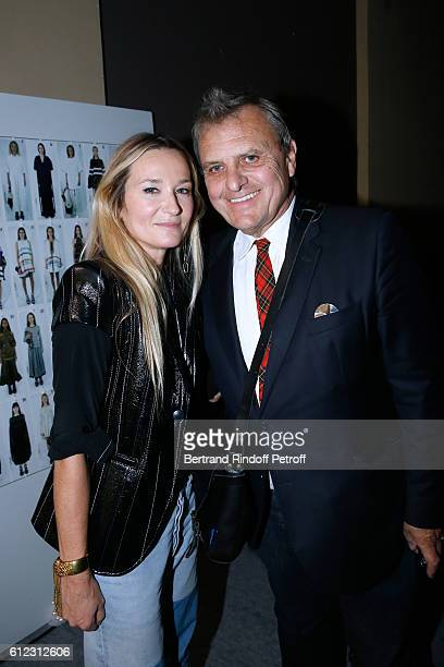 Stylist Julie de Libran and JeanCharles de Castelbajac pose after the Sonia Rykiel show as part of the Paris Fashion Week Womenswear Spring/Summer...