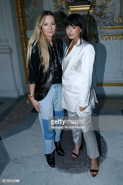 Stylist Julie de Libran and singer Louisa Rose Allen pose after the Sonia Rykiel show as part of the Paris Fashion Week Womenswear Spring/Summer 2017...