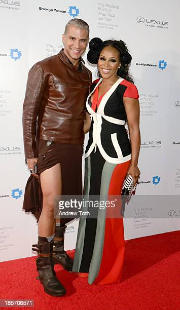 Stylist June Ambrose and Jay Manuel attend the VIP reception and viewing for The Fashion World of Jean Paul Gaultier From the Sidewalk to the Catwalk...