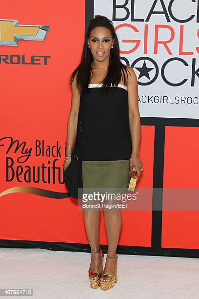 Stylist June Ambrose attends the BET's Black Girls Rock Red Carpet sponsored by Chevrolet at NJPAC – Prudential Hall on March 28 2015 in Newark New...