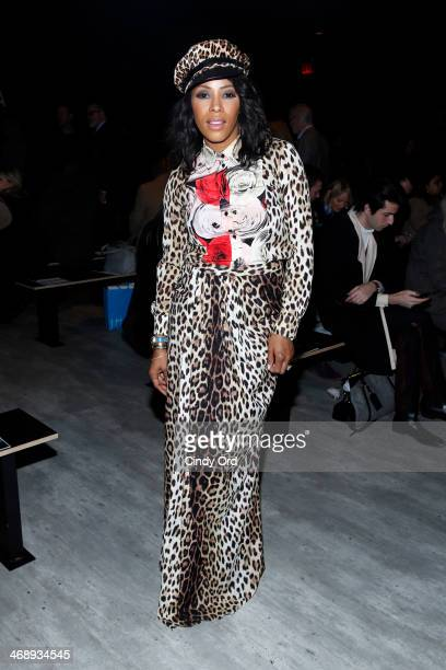 Stylist June Ambrose attends the Bibhu Mohapatra fashion show during Mercedes-Benz Fashion Week Fall 2014 at The Pavilion at Lincoln Center on...