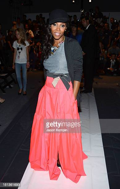Stylist June Ambrose attends the Chadwick Bell Spring 2013 fashion show during MercedesBenz Fashion Week at The Studio at Lincoln Center on September...