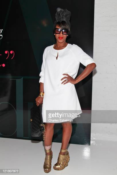 643ccdab1536 Stylist June Ambrose attends the INC International Concepts annoucement at  Open House Gallery on August 17