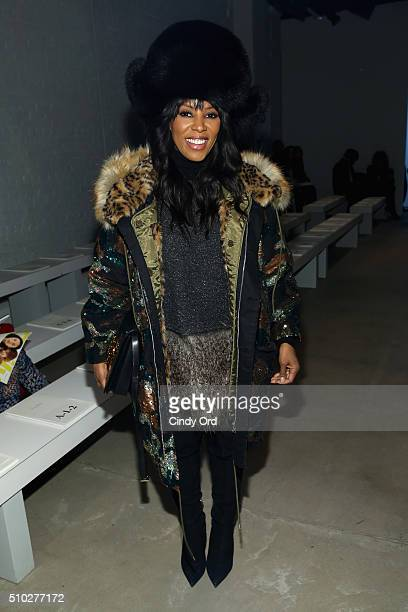 Stylist June Ambrose attends the Jenny Packham Fall 2016 fashion show during New York Fashion Week The Shows at The Gallery Skylight at Clarkson Sq...