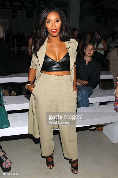 Stylist June Ambrose attends the Rebecca Minkoff Runway Show SS 16 with TRESemme at The Gallery, Skylight at Clarkson Sq on September 12, 2015 in New...