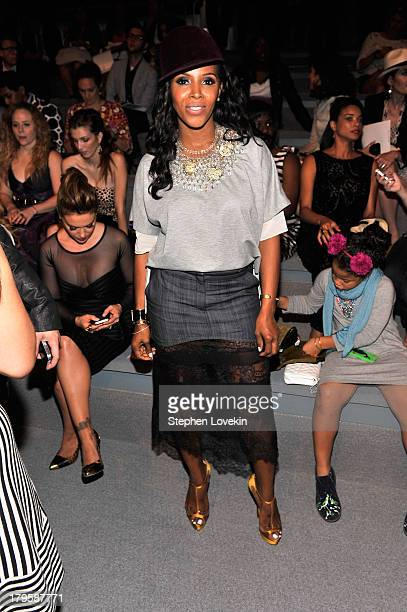 Stylist June Ambrose attends the Tadashi Shoji Spring 2014 fashion show during MercedesBenz Fashion Week at The Stage at Lincoln Center on September...