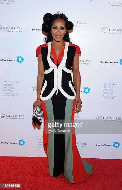 Stylist June Ambrose attends the VIP reception and viewing for The Fashion World of Jean Paul Gaultier From the Sidewalk to the Catwalk at the...