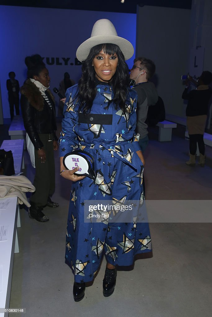 Stylist June Ambrose poses at the Xuly Bet Fall 2016 fashion