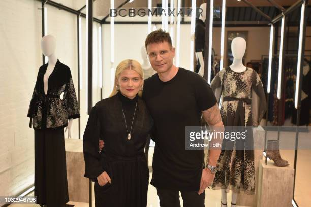 Stylist Kate Young and BCBG Creative Director Bernd Kroeber attend the celebration of the BCBGMAXAZRIA SoHo store opening with Kate Young Bernd...