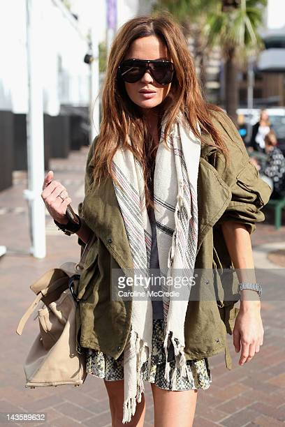 Stylist Kelly Smythe arrives for the front row for the Camilla show on day one of MercedesBenz Fashion Week Australia Spring/Summer 2012/13 at the...
