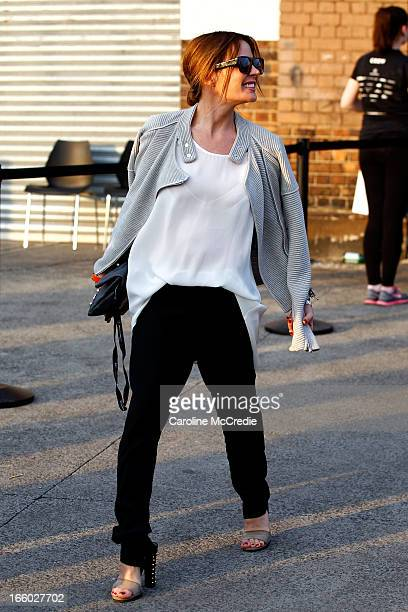 Stylist Kelly Smythe attends the Alex Perry show during MercedesBenz Fashion Week Australia Spring/Summer 2013/14 at Carriageworks on April 8 2013 in...