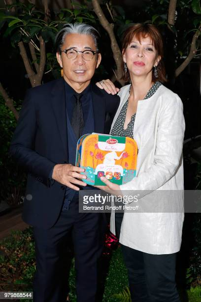 Stylist Kenzo Takada Creator of the Association 'Toutes a l'Ecole' Tina Kieffer and NPD Director of Delacre Benoit Cardinael attend the 'Lost in the...