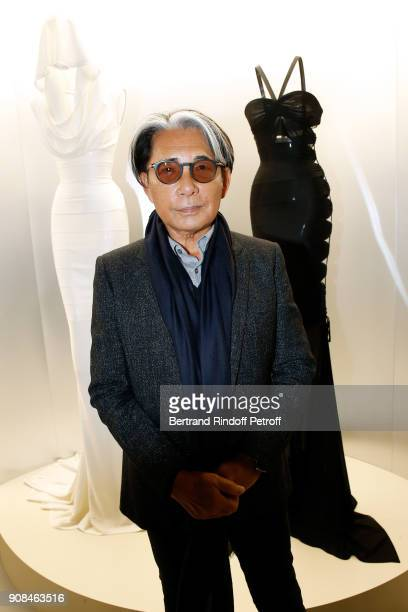 Stylist Kenzo Takada attends the Azzedine Alaia Je Suis Couturier Exhibition as part of Paris Fashion Week Held at Azzedine Alaia Gallery on January...