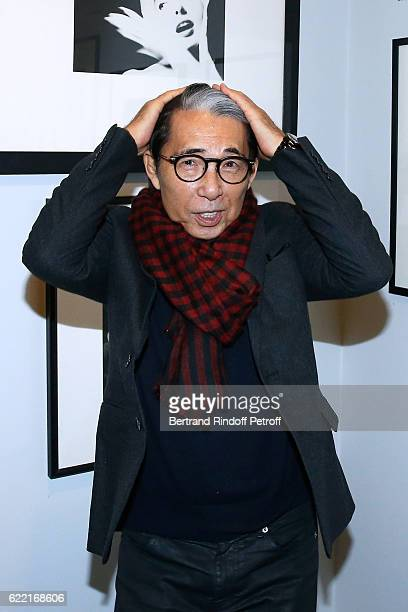 Stylist Kenzo Takada attends the Carla Sozzani Entre l'Art et la Mode Photo Exhibition at Azzedine Alaia Gallery on November 10 2016 in Paris France
