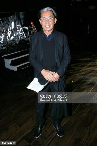 Stylist Kenzo Takada attends the Franck Sorbier Haute Couture Fall/Winter 20172018 show as part of Haute Couture Paris Fashion Week on July 5 2017 in...