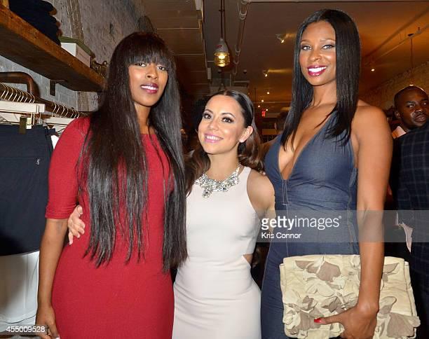 Stylist Kesha McLeod Adrienne Williams Bosh and Jennifer Williams attend Chris Bosh and Hennessy VS Raise a Glass to Mr Nice Tie at Carson Street...