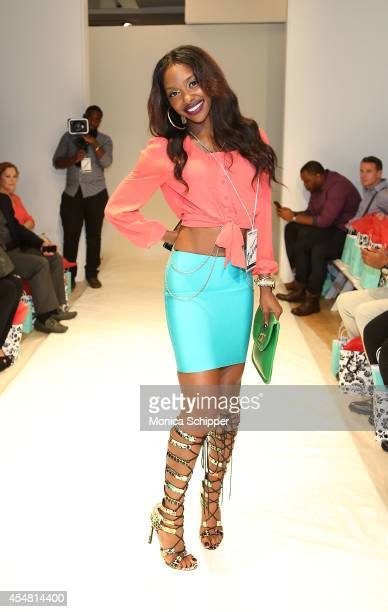Stylist Kourtney Benson attends the Designers' Preview fashion show during MercedesBenz Fashion Week Spring 2015 at Helen Mills Event Space on...