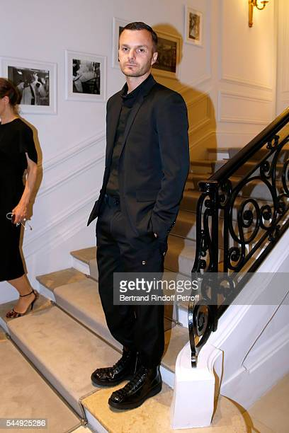 Stylist Kris Van Assche attends the Christian Dior Haute Couture Fall/Winter 20162017 show as part of Paris Fashion Week on July 4 2016 in Paris...