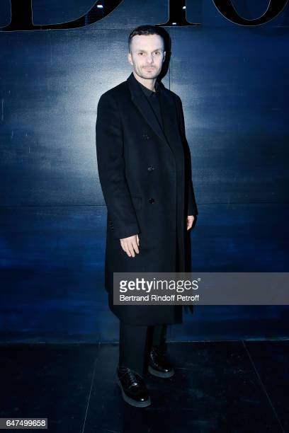 Stylist Kris Van Assche attends the Christian Dior show as part of the Paris Fashion Week Womenswear Fall/Winter 2017/2018 on March 3 2017 in Paris...