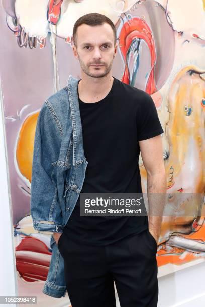 Stylist Kris Van Assche attends the FIAC 2018 International Contemporary Art Fair Press Preview at Grand Palais on October 17 2018 in Paris France