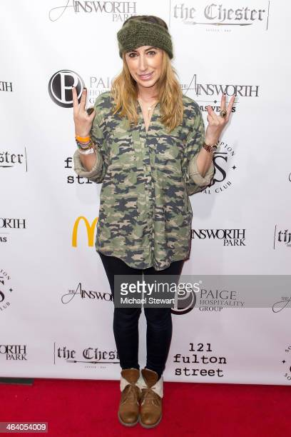 Stylist Lauren Rae Levy attends Paige Hospitality Group's Third Annual Sundance Football Game Watch on January 19 2014 in Park City Utah