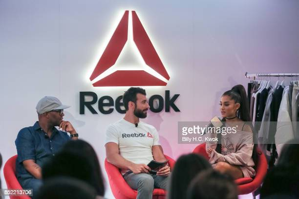 Stylist Law Roach Reebok host Chad Wittman and Ariana Grande attend An Inspiring 'Day in the Life' of Ariana Grande to celebrate new partnership with...