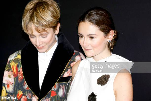 Stylist Leandra Bendorf and German actress Lea van Acken attend the New Faces Award Style 2017 at The Grand on November 15 2017 in Berlin Germany