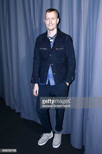 Stylist Lucas Ossendrijver attends the Lanvin Menswear Fall/Winter 2016-2017 show as part of Paris Fashion Week on January 24, 2016 in Paris, France.